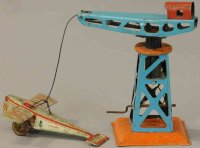 Levy George (Gely) Tin-Penny Toy Unusual crane #119 and...