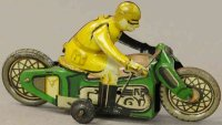 PAYA Tin-Penny Toy Juguttes motorcycle, rare and in...