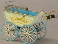 Maerklin Tin-Toys Baby carriage with spoke wheels