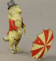 Guenthermann Tin-Figures Poddle with top-hat, umbrella...
