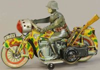 Arnold Tin-Motorcycles Tin lithographed motorcyclist with...