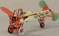 Orobr Tine Ariplanes Bleriot airplane, hand-painted tin...