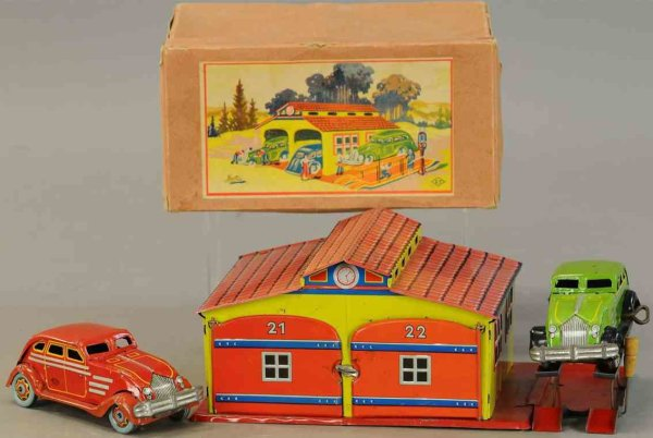 Unknown Garages Double garage with two airflow cars, each with wind-up, with