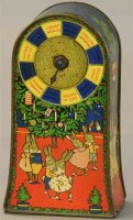 Huntley & Palmers Tin-Mechanical Banks Lucky wheel bank,...