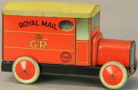 Unknown Keksdosen Royal mail car biscuit tin, both sides...