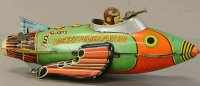 Marx Tin-Other-Vehicles Buck Rogers rocket police patrol...