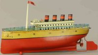 Bing Tin-Ships Atlantic city ocean liner with wind-up...