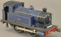 Bassett-Lowke Railway-Locomotives Locomotive in blue and...
