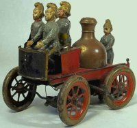Guenthermann Tin-Fire-Truck Fire pumper car, wind-up toy...