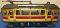 Guenthermann Tin-Trams Large tram, wind-up, floor...