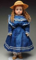 Heubach Gebr. Dolls Cute child doll. German bisque socket...