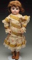 Gaultier Dolls Dramatic baby doll. French bisque socket...