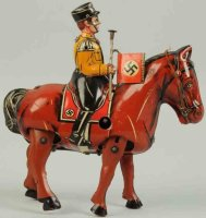 Blomer & Schüler Tin-Figures Military figure on horse,...
