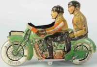 Tippco Tin-Motorcycles Extremely rare Nazi motorcycle....