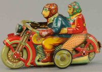 I.Y. Metal Toys Tin-Motorcycles Very rare romance...