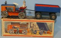 GAMA Tin-Tugs/Rollers Caterpillar #66/5 with trailer and...