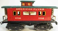American Flyer Railway-Freight Wagons Caboose #1114 with...