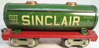 American Flyer Railway-Freight Wagons Sinclair tank car...