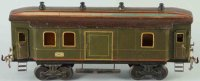 Bing Railway-Passenger Cars Mail and baggage car #7116/4...