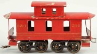 Voltamp Railway-Freight Wagons Caboose #2110  in red with...