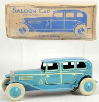 Chad Valley Co Ltd. Tin-Oldtimer Saloon car wind-up toy,...