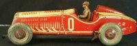 Rossignol Tin-Race-Cars Racing car with driver, made of...