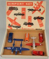 Hubley Tin-Kit-Cars Airport set #49 made of diecast....