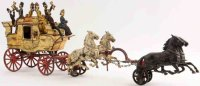 Carpenter Cast-Iron-Carriages Horse drawn TALLY HO with...