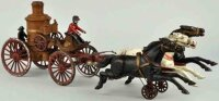 Dent Hardware Co Cast-Iron-Carriages 3-horse fire pumper...