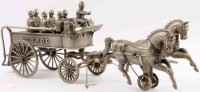 Shimer Toy Co. Cast-Iron-Carriages Police patrol wagon,...
