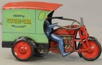Hoge Mfg Co. Tin-Motorcycles Motorcycle delivery wind-up...