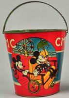 Ohio Art Tin-Toys Sand pail with Mickey Mouse made of...