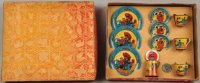 Ohio Art Tin-Toys Oriental themed tea set made of...