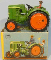 Hausser (Elastolin) Celluloid-Vehicles Tractor #2452 with...