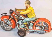 Arnold Tin-Motorcycles Motorcycle with flywheel drive and...