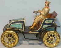 Carette Tin-Oldtimer Open vintage car with original...
