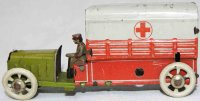 Distler Tin-Penny Toy Military red cross truck with red...