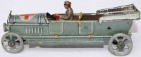 Meier Tin-Penny Toy Open Military Red Cross limousine...