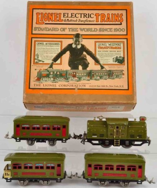 Lionel Railway-Trains Passenger train set #249. Includes three passenger cars (two