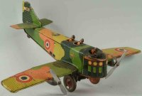 Masudaya Tine Ariplanes Military airplane made of tin...
