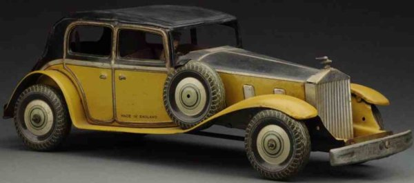 Wells Tin-Cars Rolls Royce sedan wind-up toy, made of lithographed tin in y