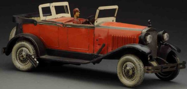 Rossignol Tin-Oldtimer Wind-up Delage auto made of lithographed tin, made from CR.