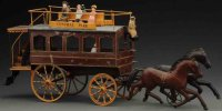 Unknown Tin-Carriages Large early French omnibus, made of...