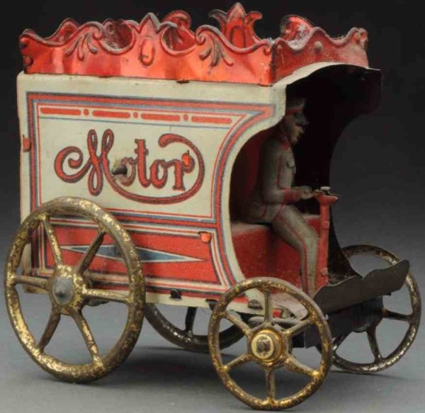 Richter & Co Tin-Trucks Motor coach wind-up toy, made of lithographed tin. Written