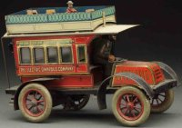 Issmayer Tin-Buses Double decker bus toy. Marked The...