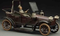 Bub Tin-Oldtimer Touring-Car lithographed in brown,...