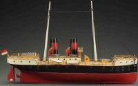 Schoenner Tin-Ships Clockwork river boat with twin...
