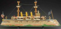 Bliss Rufus Wood-Ships Early American battleship toy,...