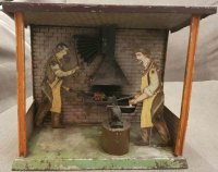 Carette Steam Toys-Drive Models Blacksmiths forge with 2...
