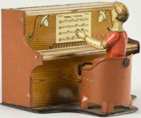 Bing Tin-Figures Piano player made of lithographed tin....